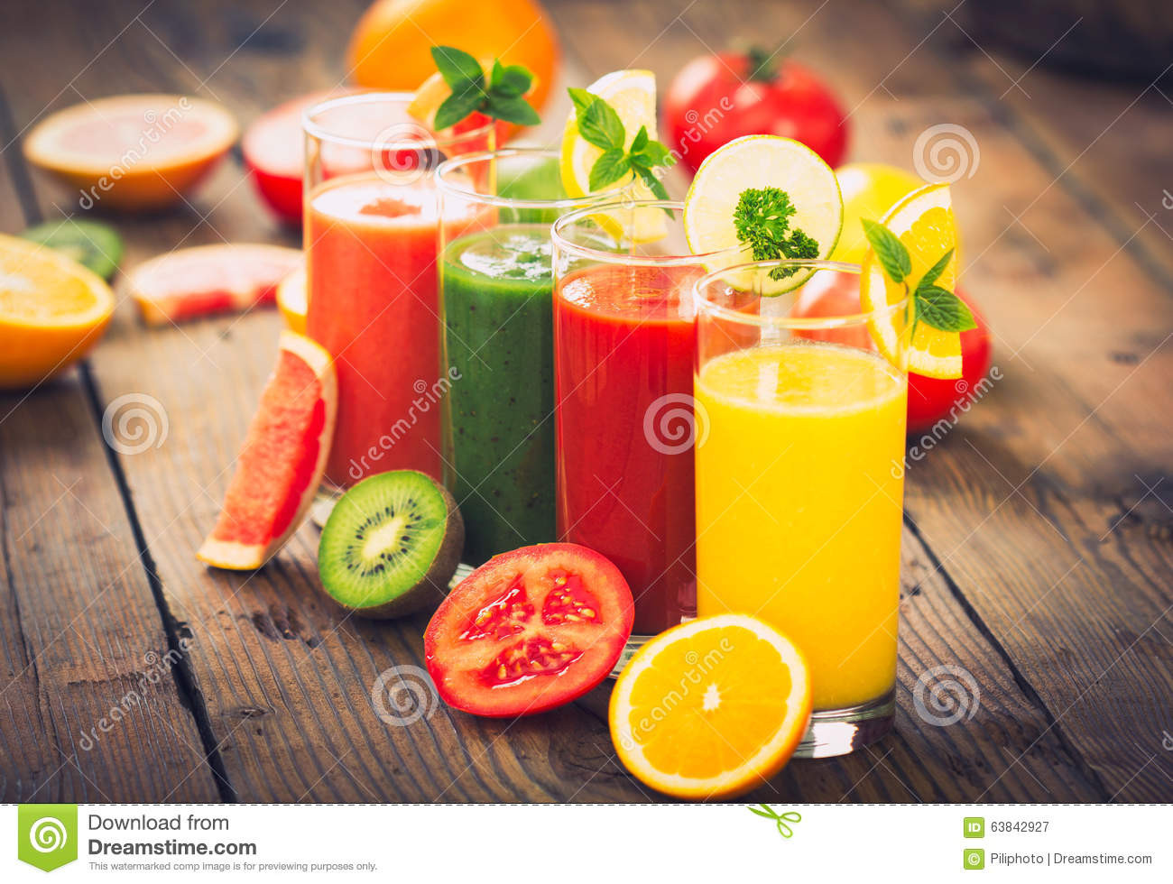 Healthy Fruit And Vegetable Smoothies  Healthy Fruit And Ve able Smoothies Stock Image