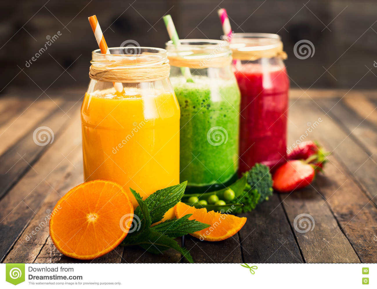 Healthy Fruit And Vegetable Smoothies  Healthy Fruit And Ve able Smoothies Stock Image Image