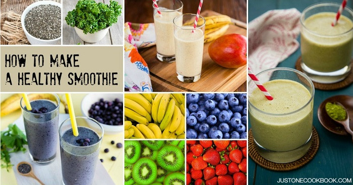 Healthy Fruit And Vegetable Smoothies  How To Make Healthy Smoothies • Just e Cookbook