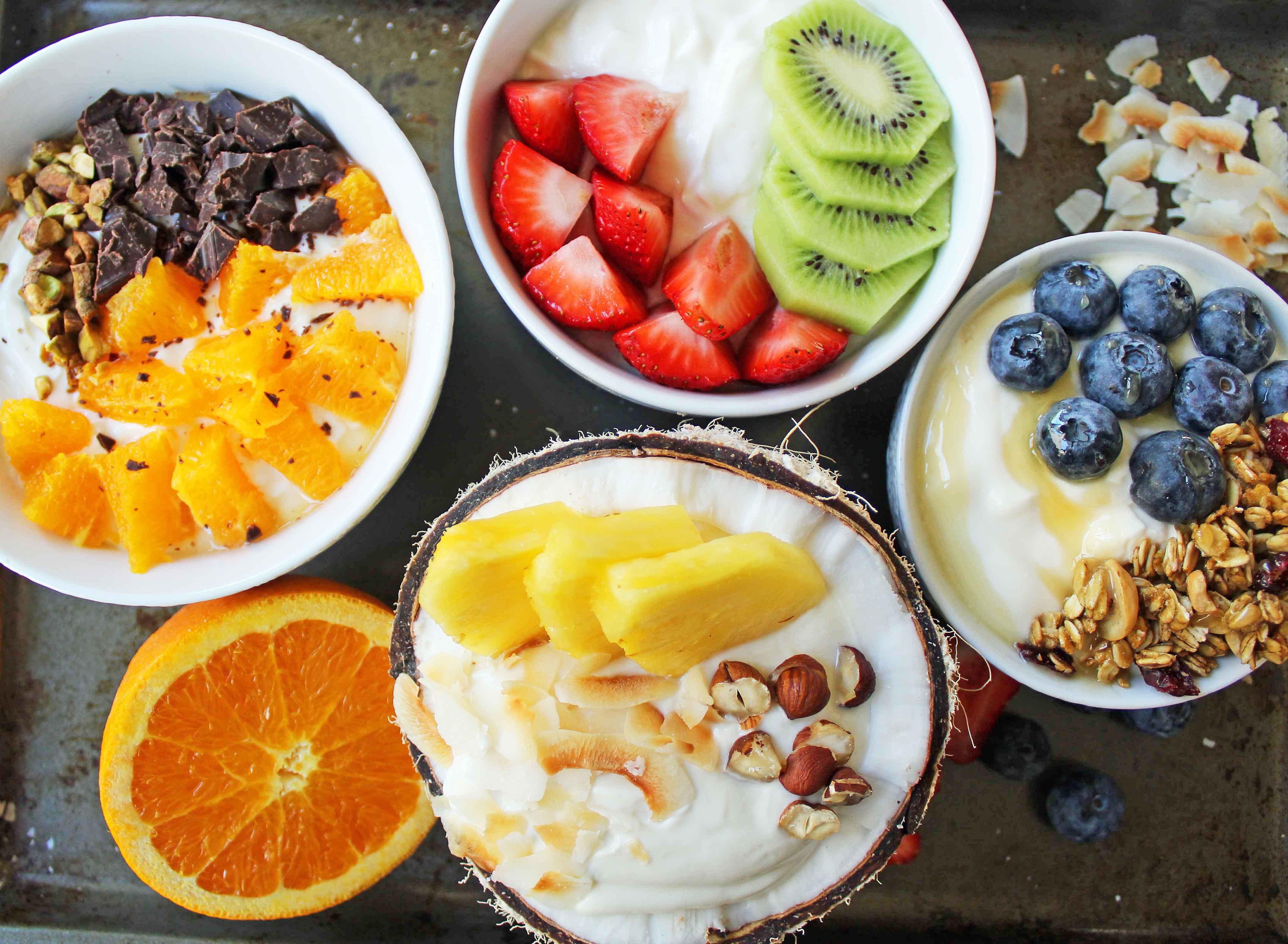 Healthy Fruit Breakfast  Greek Yogurt Breakfast Bowls with Toppings – Modern Honey