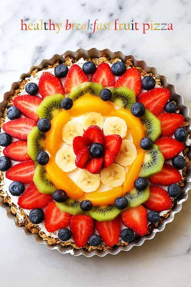Healthy Fruit Breakfast  Healthy Breakfast Fruit Pizza Recipe