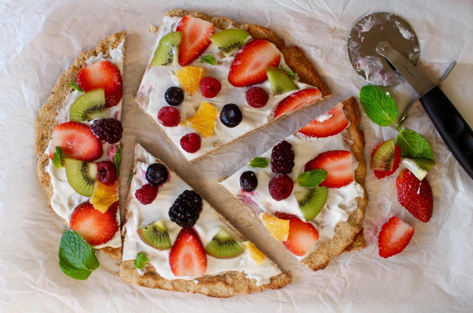 Healthy Fruit Breakfast  Healthy Fruit Pizza Recipe For Breakfast by Archana s Kitchen