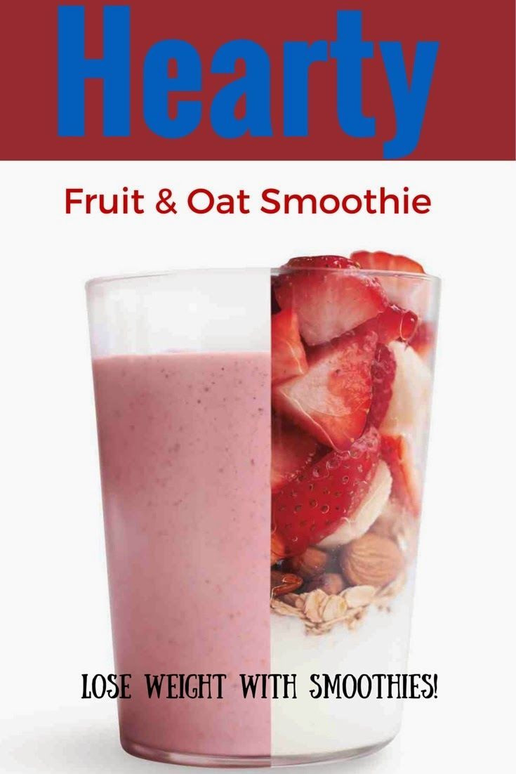 Healthy Fruit Smoothies For Weight Loss  Healthy Fruit And Oat Smoothie Lose Weight With