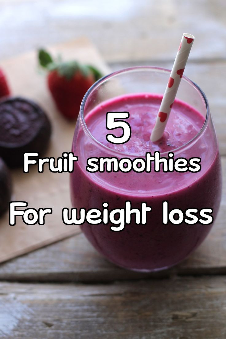Healthy Fruit Smoothies For Weight Loss  Lose weight and kickstart your metabolism with these