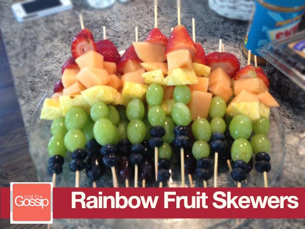 Healthy Fruit Snacks For Adults  Tuesday Bites Rainbow Fruit Skewers