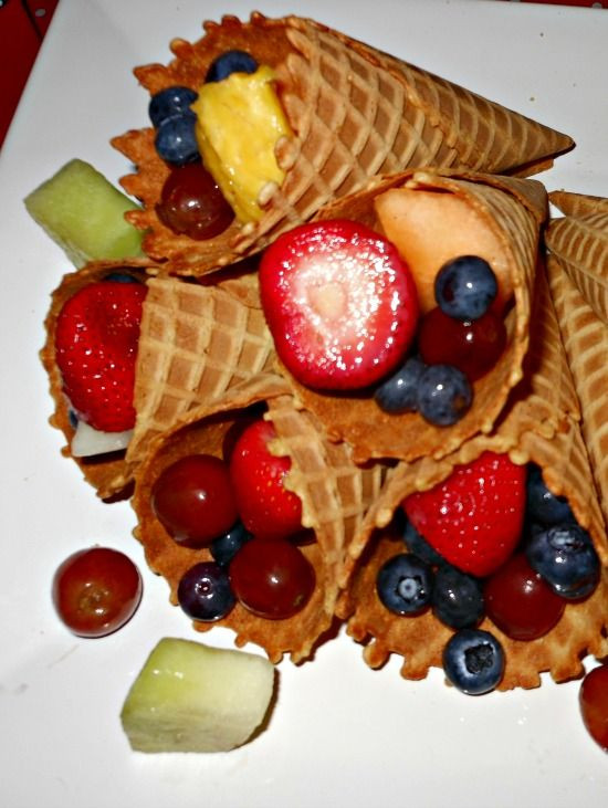 Healthy Fruit Snacks For Adults  Fruit Cones Healthy Camping Snack for Kids and Adults