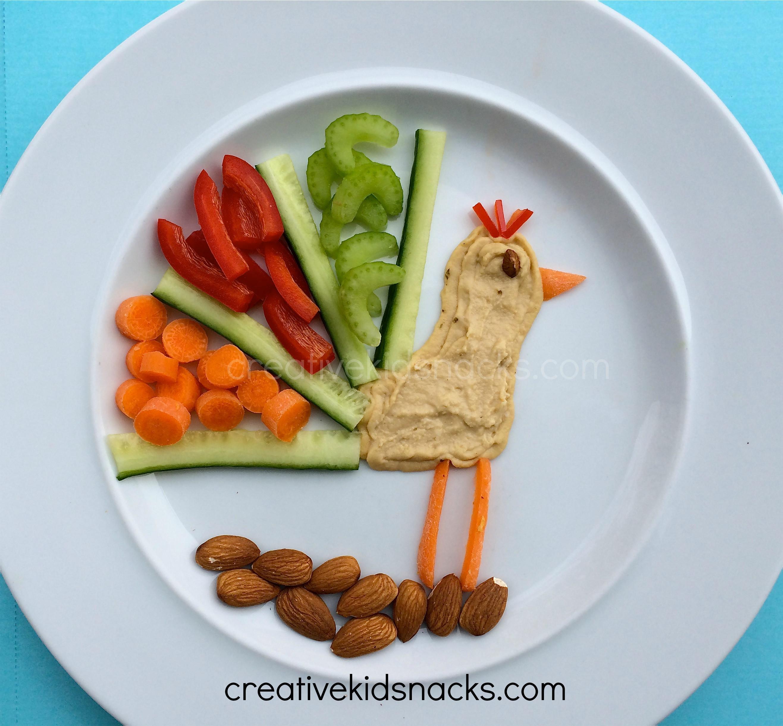 Healthy Fun Snacks  Healthy Peacock Snack