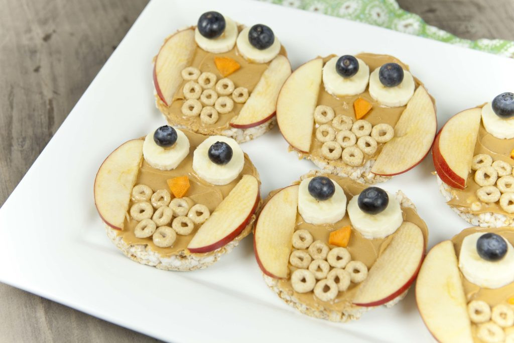 Healthy Fun Snacks For Kids  Fun Food For Kids Owl Rice Cakes