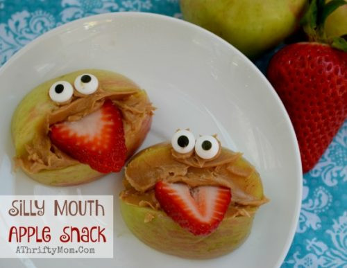 Healthy Fun Snacks  Fun Healthy Snacks For Kids – Silly Mouth Apple Snacks