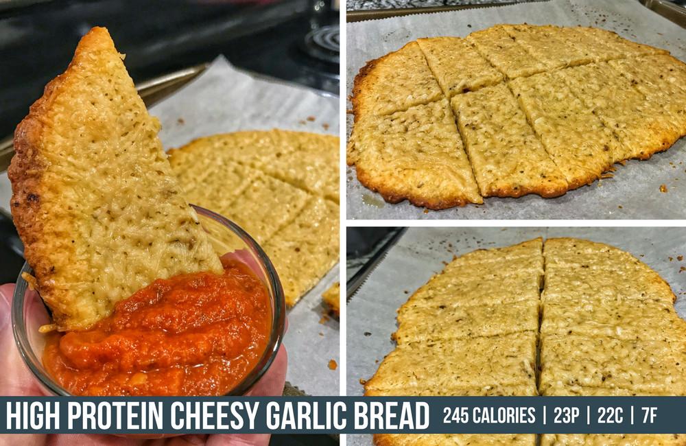 Healthy Garlic Bread Recipe  Healthy Cheesy Garlic Bread Recipe Macro Friendly and