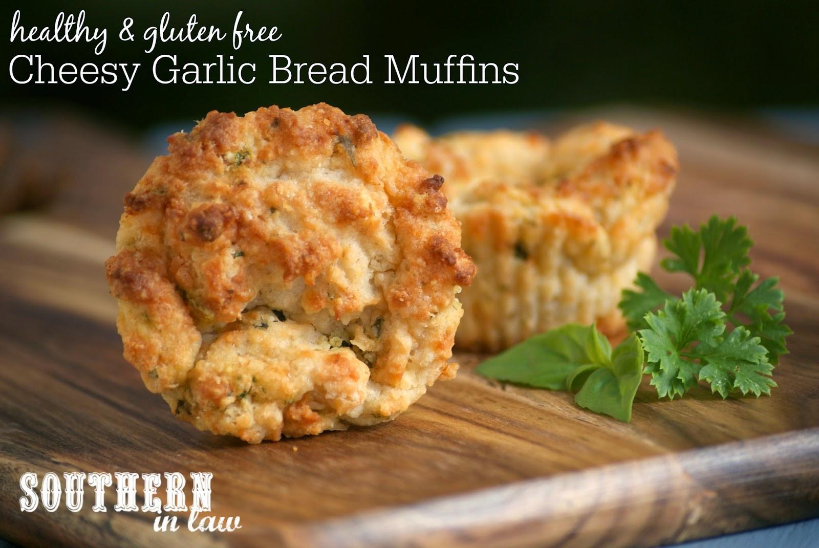 Healthy Garlic Bread Recipe  Southern In Law Recipe Cheesy Garlic Bread Muffins