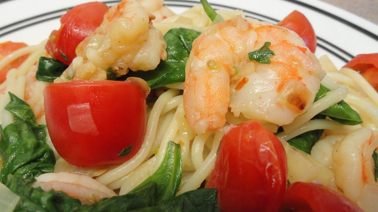 Healthy Garlic Shrimp Pasta  Actually Healthy Garlic Shrimp Pasta