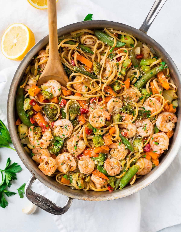 Healthy Garlic Shrimp Pasta  Garlic Shrimp Pasta
