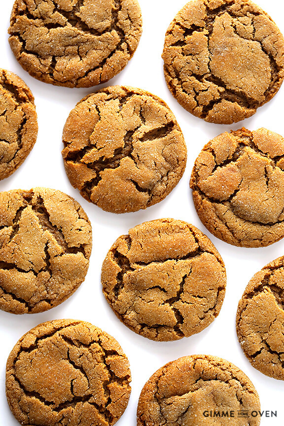 Healthy Ginger Molasses Cookies  healthy ginger molasses cookies