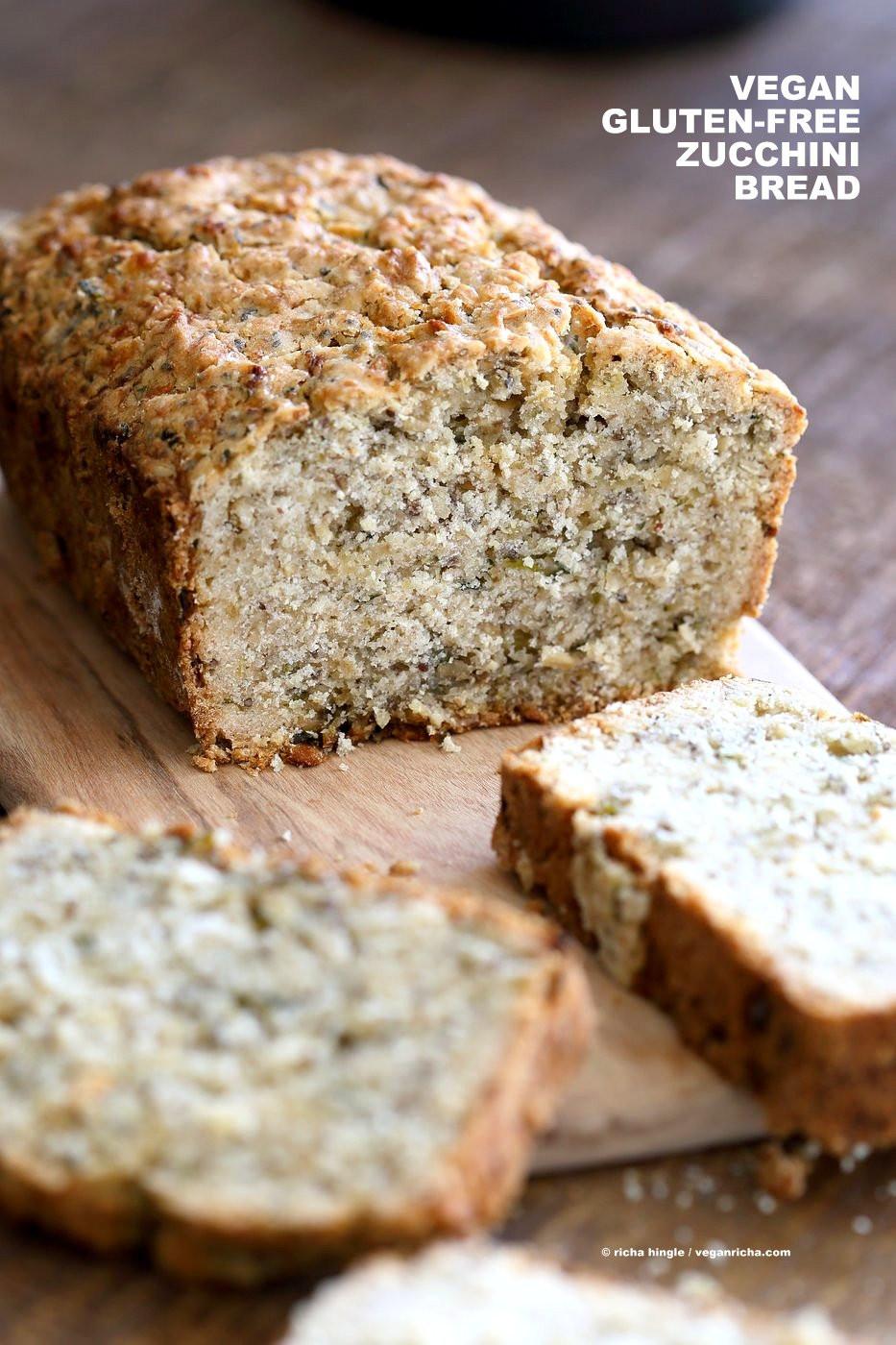 Healthy Gluten Free Bread Recipe  Vegan Gluten free Zucchini Bread Recipe Vegan Richa