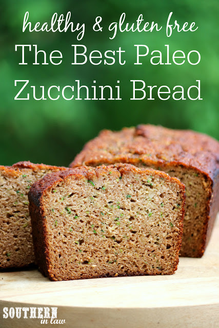 Healthy Gluten Free Bread Recipe  Southern In Law Recipe The Best Paleo Zucchini Bread