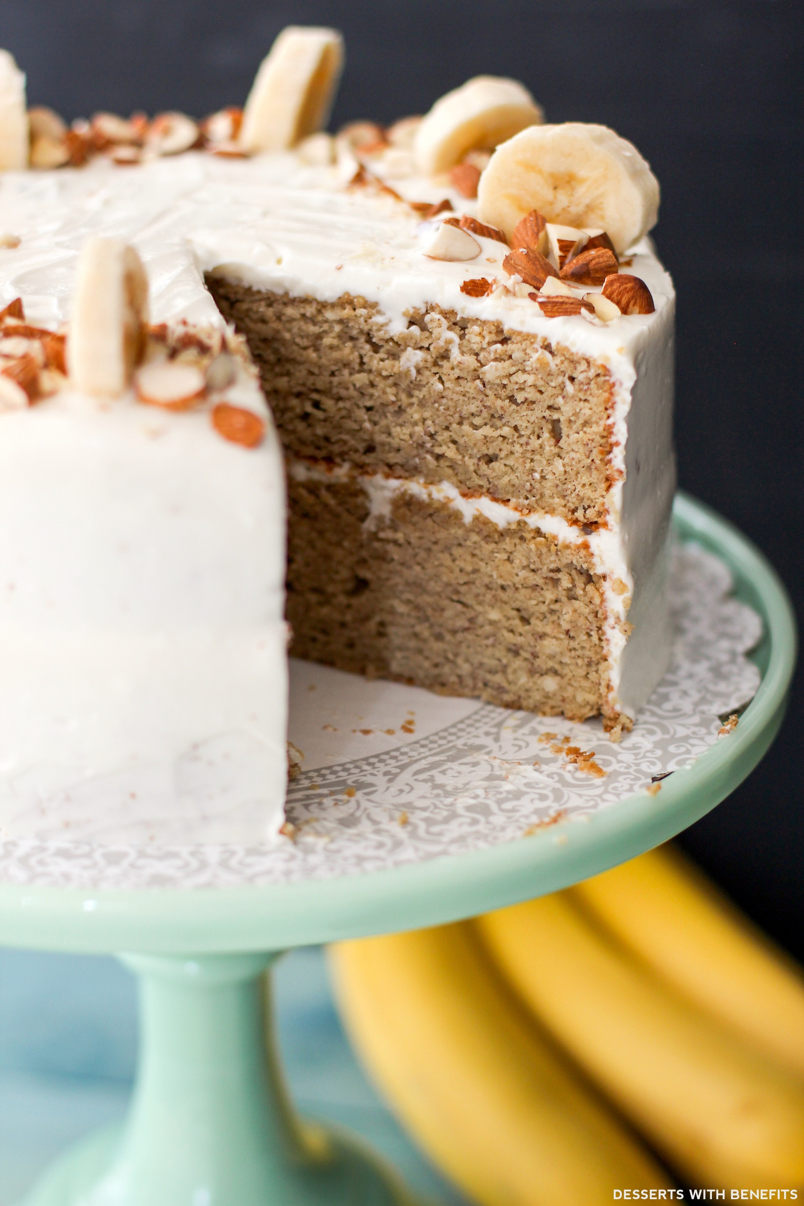 Healthy Gluten Free Dessert Recipes  Gluten Free Healthy Banana Cake with Cream Cheese Frosting