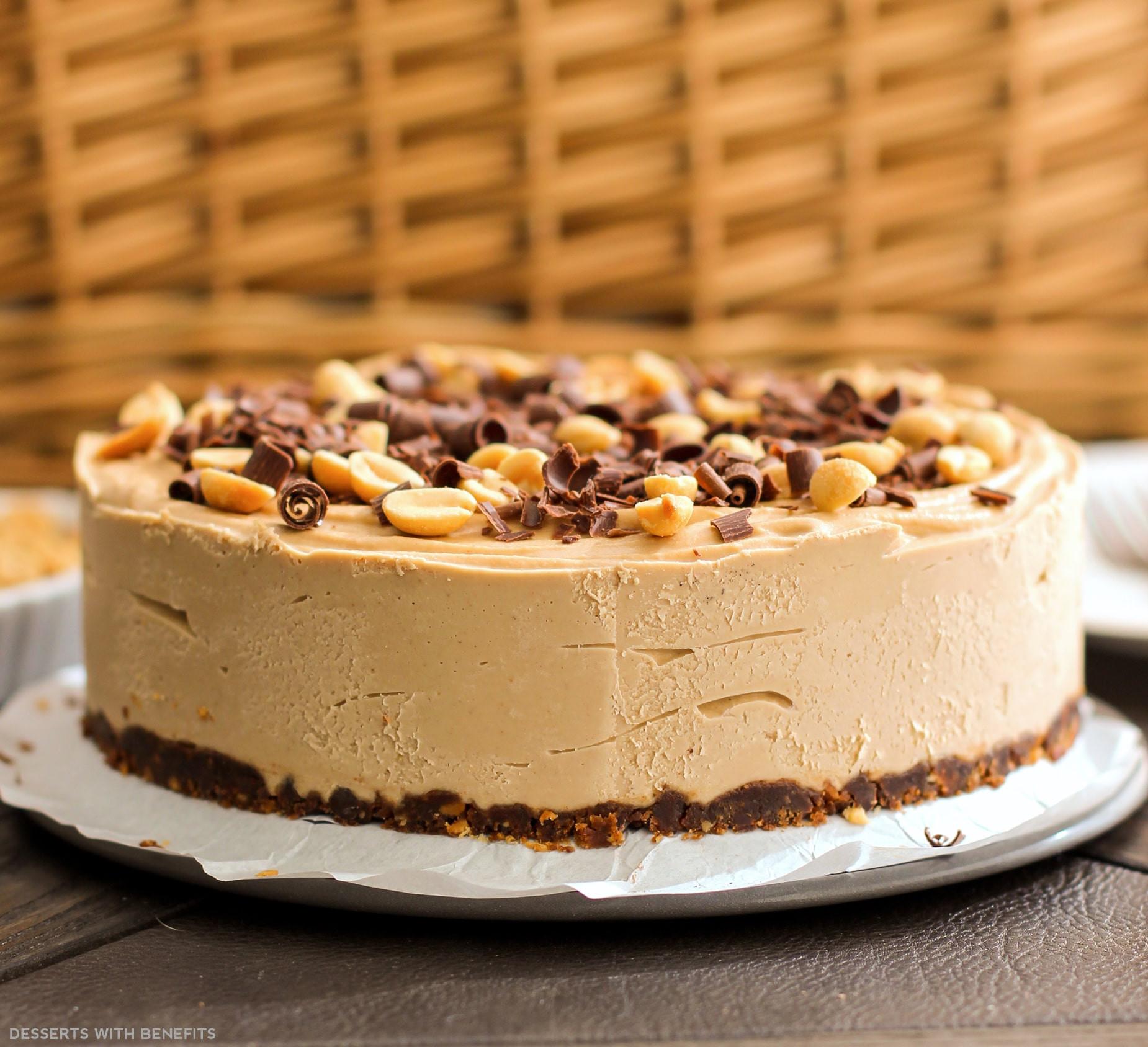 Healthy Gluten Free Desserts  Healthy Chocolate Peanut Butter Raw Cheesecake