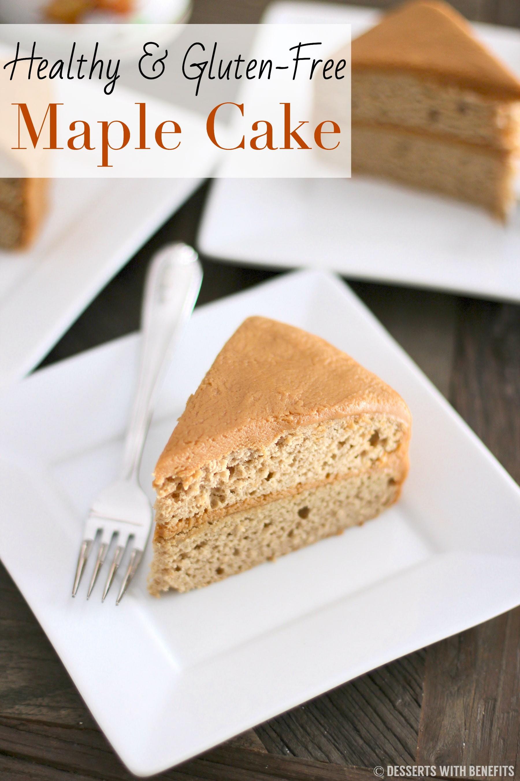 Healthy Gluten Free Desserts  Healthy Gluten Free Maple Cake Recipe