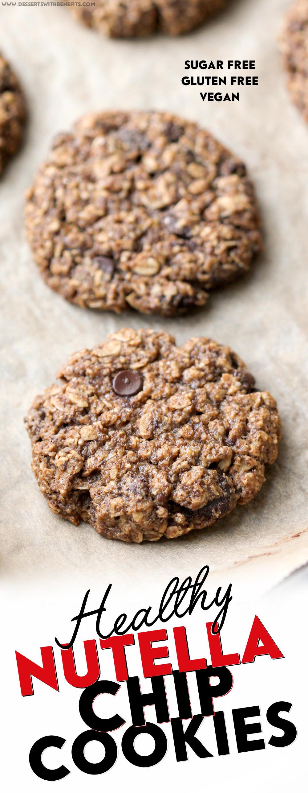 Healthy Gluten Free Oatmeal Cookies  Healthy Nutella Chip Oatmeal Cookies recipe gluten free