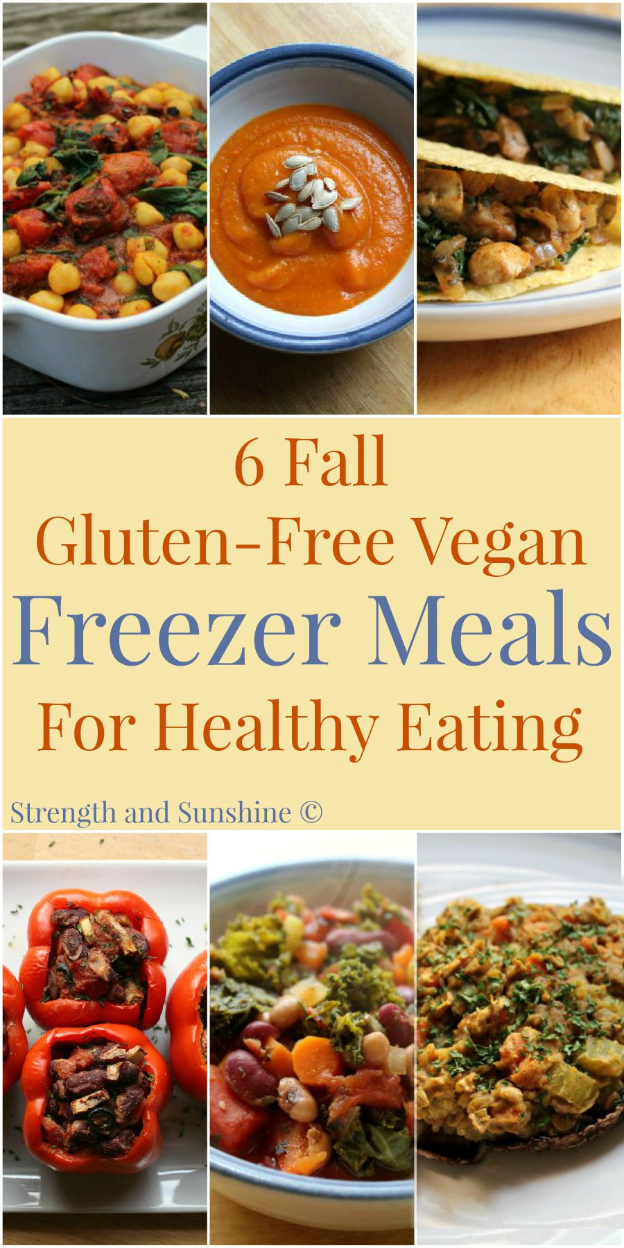 Healthy Gluten Free Recipes  6 Fall Gluten Free Vegan Freezer Meals For Healthy Eating