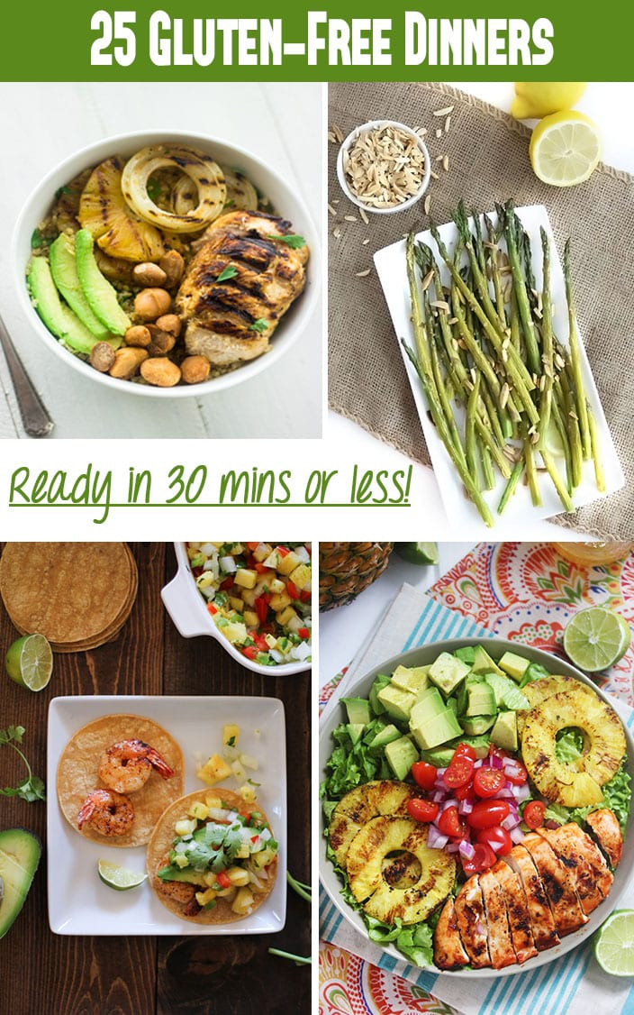 Healthy Gluten Free Recipes  25 Gluten Free Dinner Recipes in Under 30 Minutes The