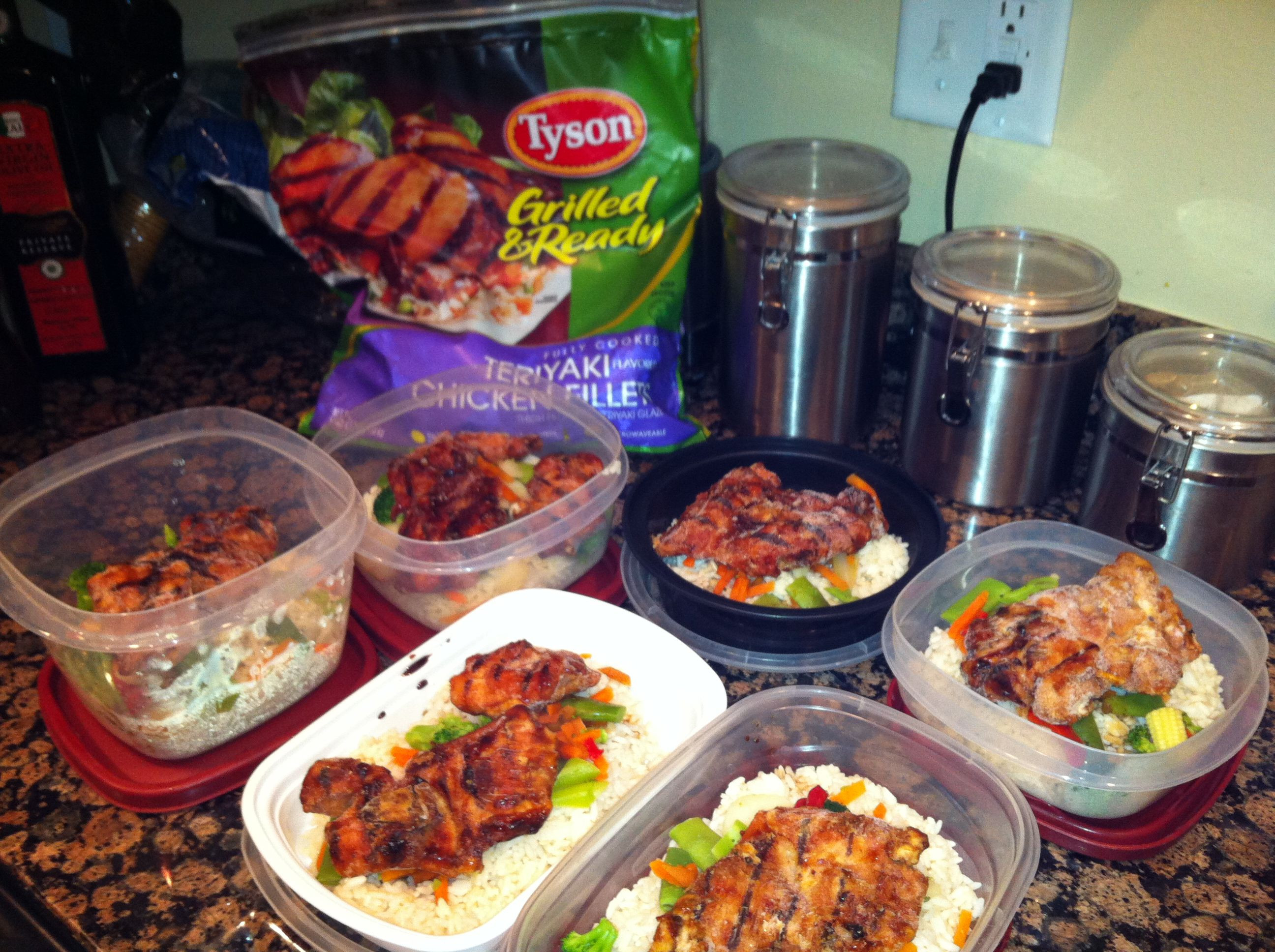 Healthy Grab And Go Lunches  Grab and go hot healthy meals I took rice stir fry