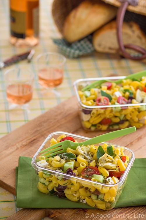Healthy Greek Pasta Salad  Healthy Greek Pasta Salad Recipe — A Food Centric Life