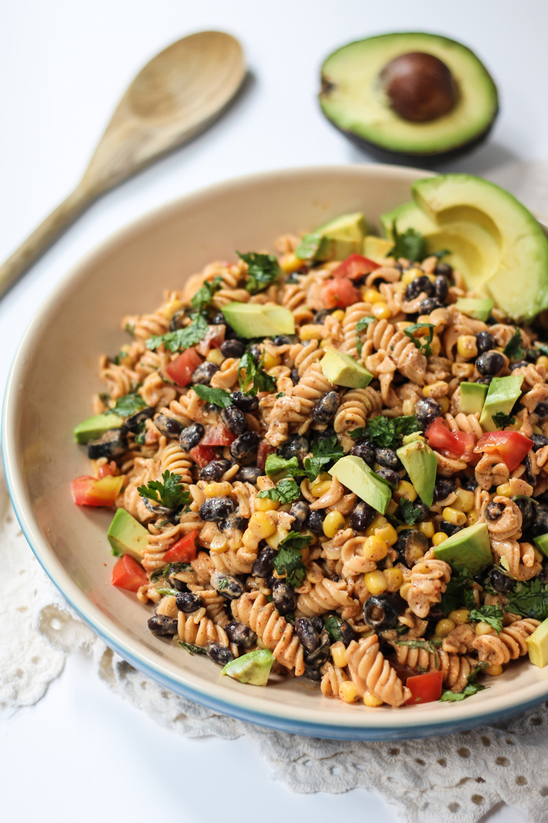 Healthy Greek Pasta Salad  Healthy Southwest Pasta Salad with Chipotle Lime Greek