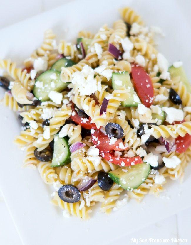 Healthy Greek Pasta Salad  1000 ideas about Greek Pasta Salads on Pinterest