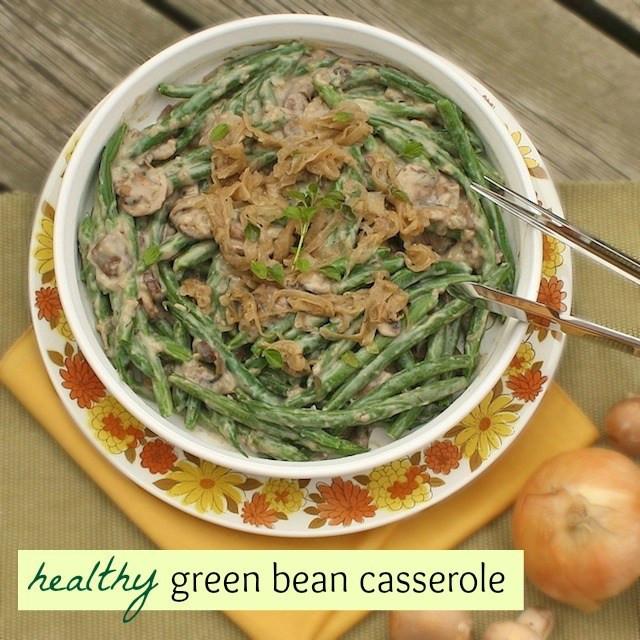 Healthy Green Bean Casserole  Healthy Green Bean Casserole