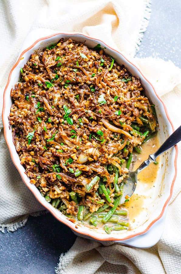 Healthy Green Bean Casserole  Healthy Green Bean Casserole iFOODreal Healthy Family