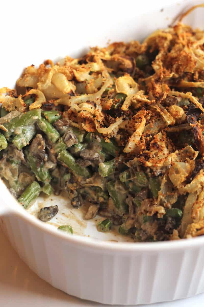 Healthy Green Bean Casserole  Healthy Green Bean Casserole Vegan