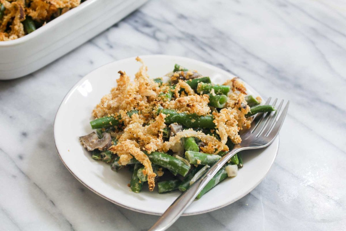 Healthy Green Bean Casserole  Healthy Green Bean Casserole with Homemade Crispy ions
