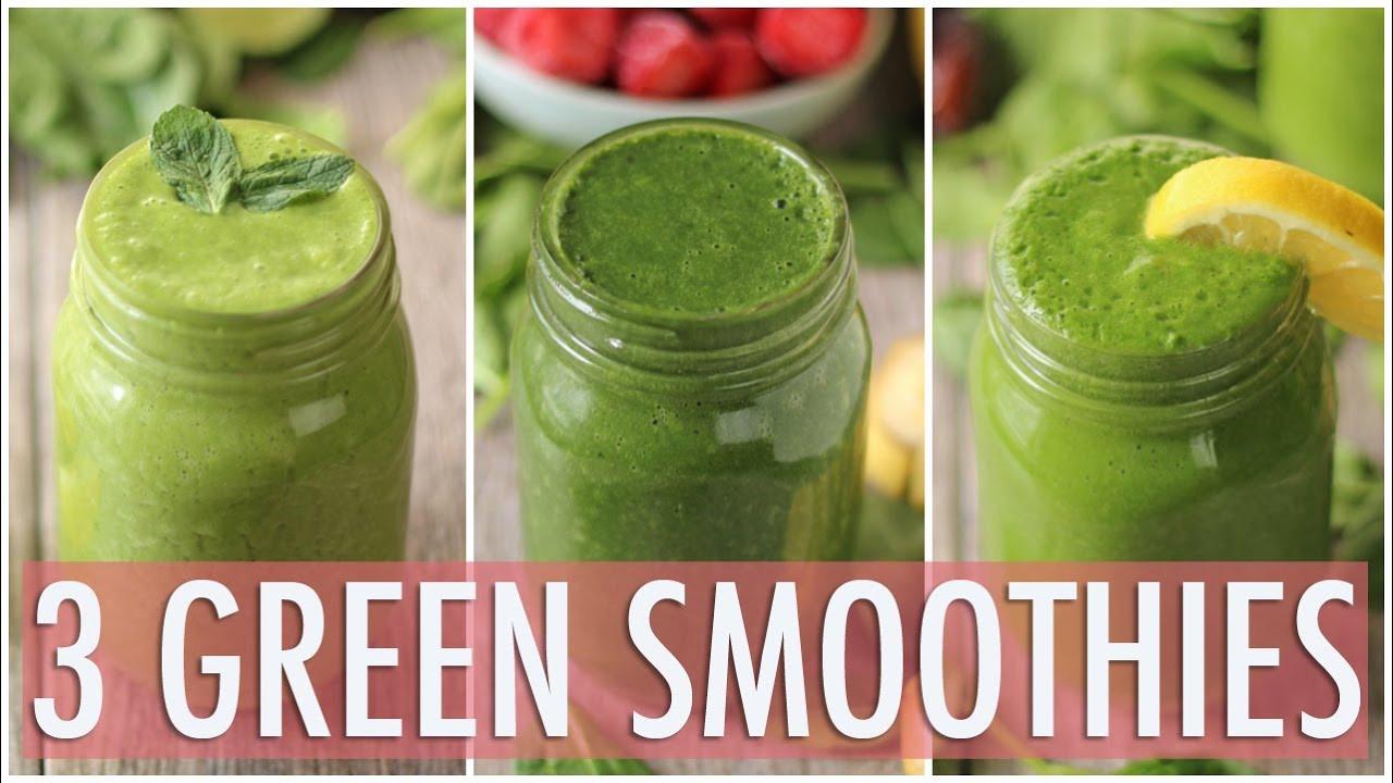Healthy Green Smoothies  3 Healthy Green Smoothies