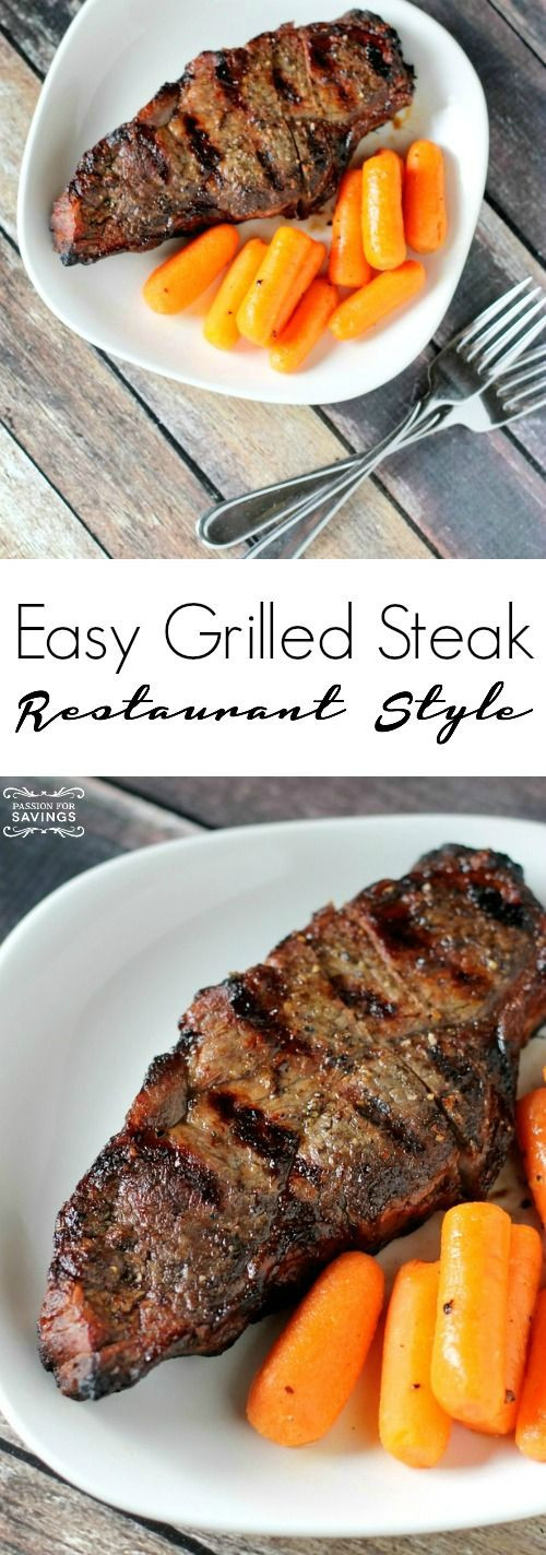 Healthy Grilled Dinners  Easy Grilled Steak Recipe Homemade Dinner Recipe for a