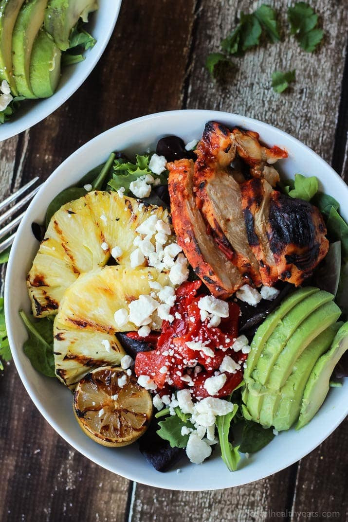Healthy Grilled Dinners  Harissa Lime Grilled Chicken Salad with Creamy Cilantro
