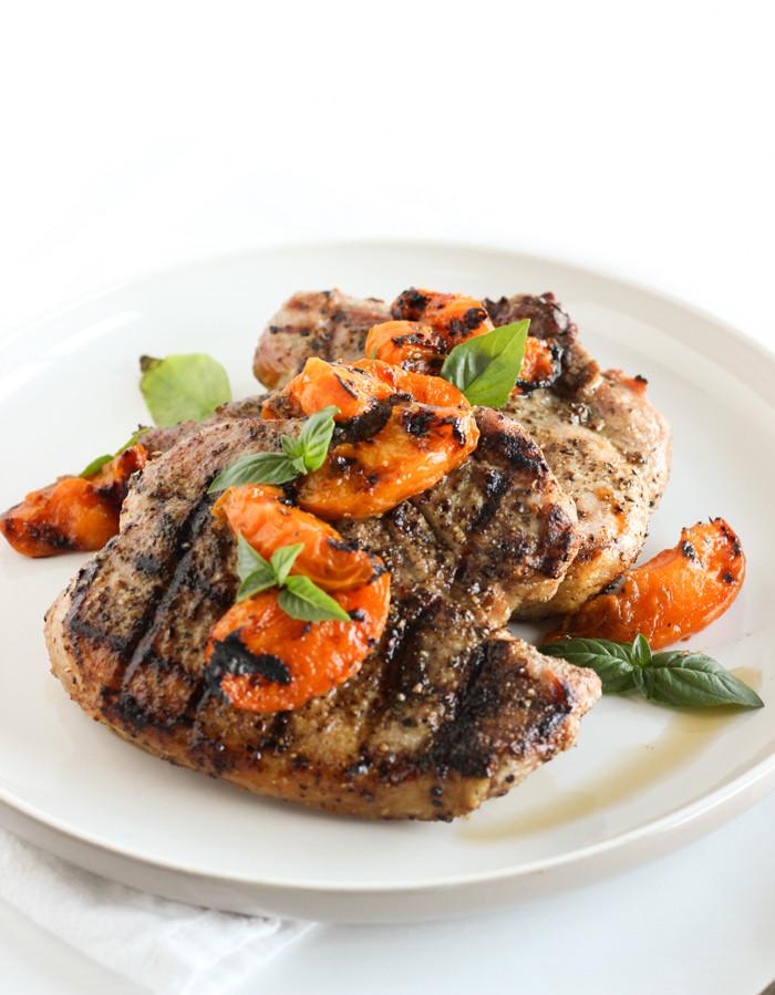 Healthy Grilled Pork Chops  Summer Grilled Apricot Pork Chops Lively Table