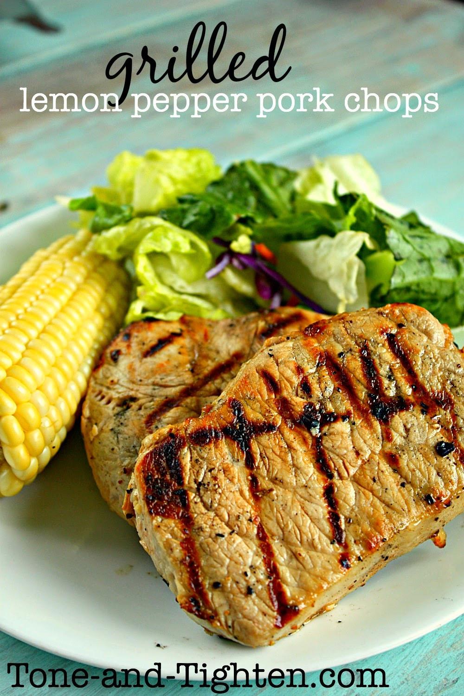 Healthy Grilled Pork Chops  Healthy Grilled Lemon Pepper Pork Chops Recipe