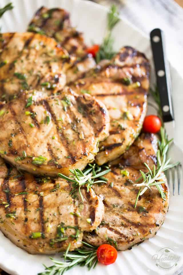 Healthy Grilled Pork Chops  Maple Rosemary Grilled Pork Chops • The Healthy Foo