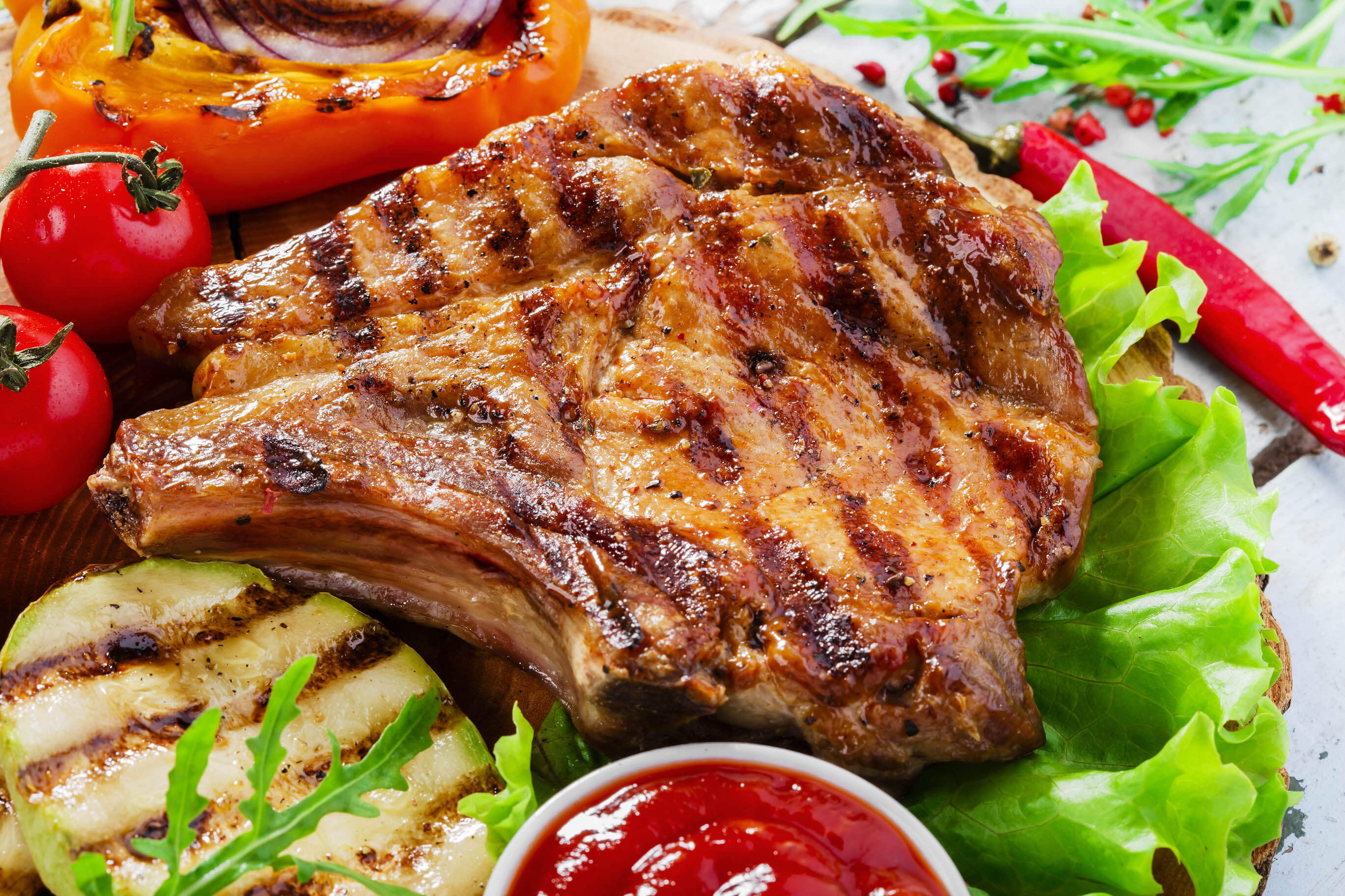 Healthy Grilled Pork Chops  Genetic engineering could make pork heart healthy if not