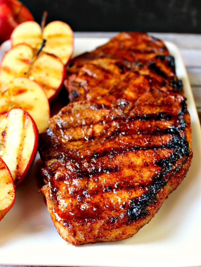 Healthy Grilled Pork Chops  Grilled Apple Cider Glaze Pork Chop – Best Healthy BBQ