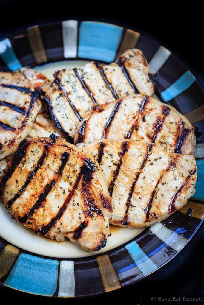 Healthy Grilled Pork Chops  Honey Lime Grilled Pork Chops