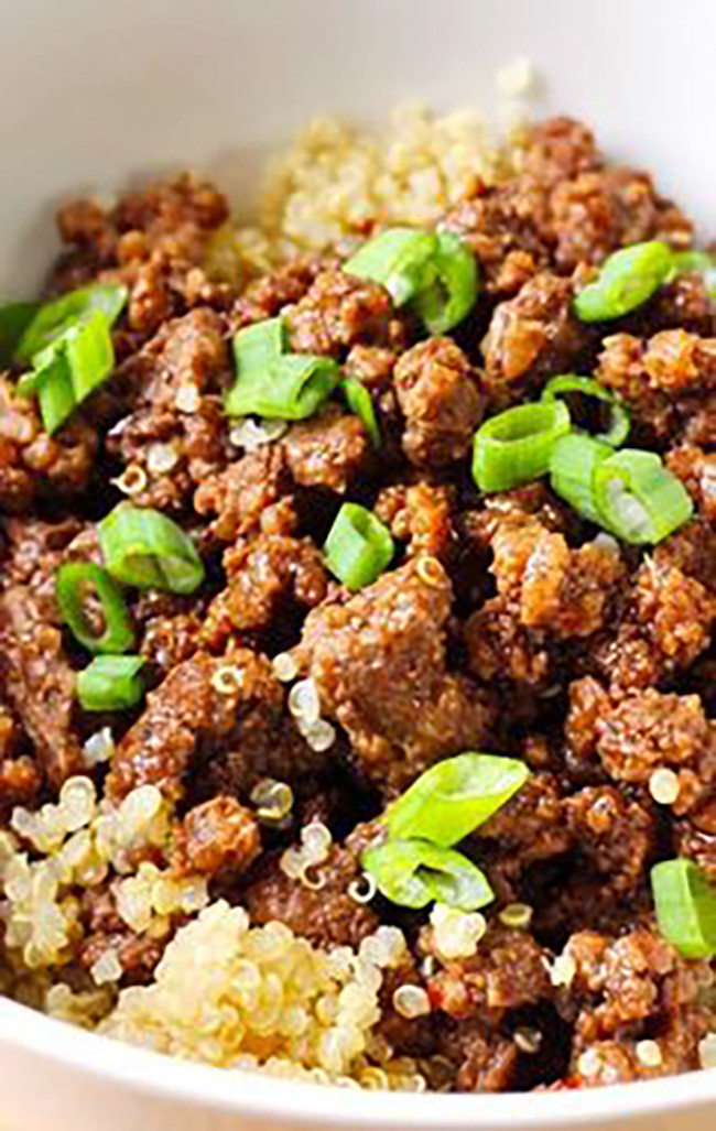 Healthy Ground Beef  quinoa ground beef recipe