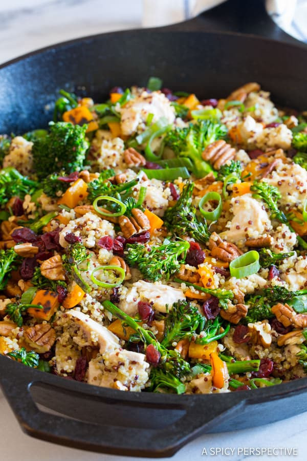 Healthy Ground Beef And Broccoli Recipe  ground beef quinoa skillet