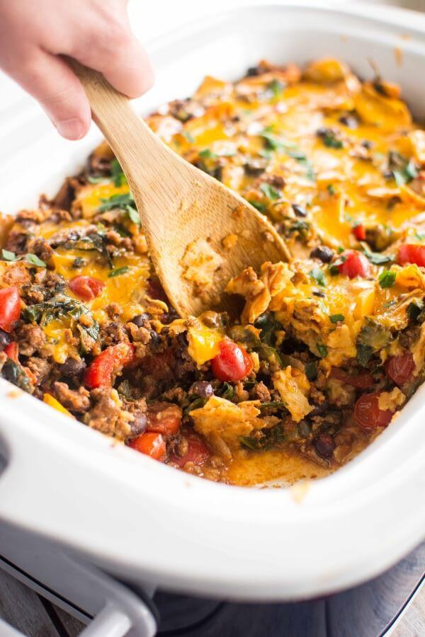 Healthy Ground Beef Crock Pot Recipes  Slow Cooker Healthy Taco Casserole Slow Cooker Gourmet