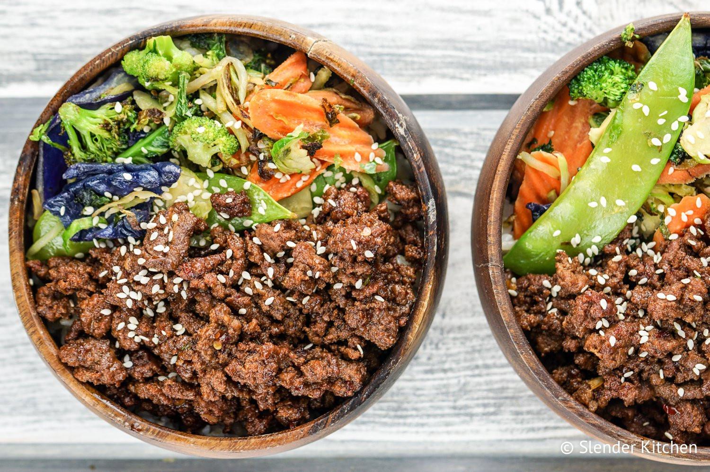 Healthy Ground Beef Recipe  Healthy Korean Ground Beef with Ve ables Slender Kitchen