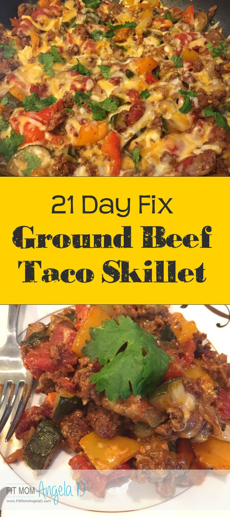 Healthy Ground Beef Skillet Recipes  21 Day Fix Ground Beef Taco Skillet