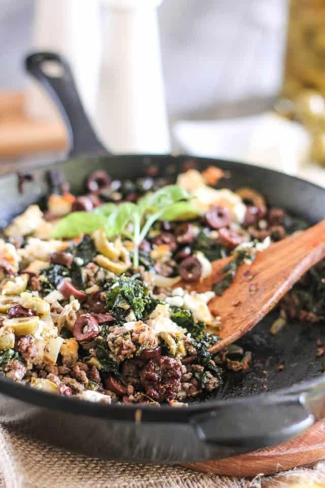 Healthy Ground Beef Skillet Recipes  Greek Style Ground Beef Skillet