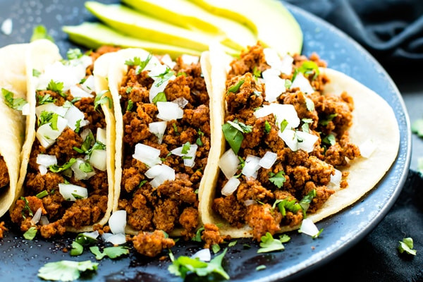 Healthy Ground Beef Tacos  Ground Turkey Tacos with Soft Corn Tortillas Evolving Table
